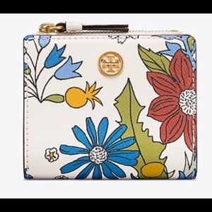 Tory Burch Robinson floral mini wallet